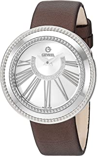 Women's Fifth Avenue Stainless Steel Swiss Quartz Watch with Satin Strap, Brown, 18 (Model: 3240.2)