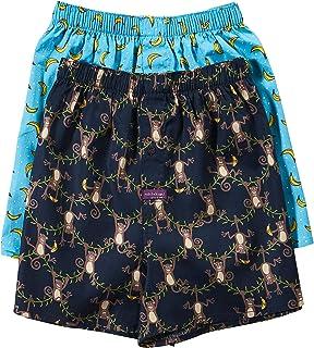 Mitch Dowd Men's Monkey Biz Yarn Dye 2 Pack Woven Boxer