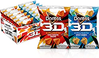 Doritos 3D Crunch 2 Flavor Variety Pack, 0.625 oz Bags, (36 Pack)
