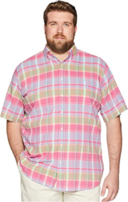 Big & Tall Madras Short Sleeve Sport Shirt