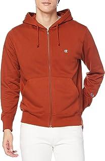 [チャンピオン] フルジップパーカー 綿100% 長袖 定番 ワンポイント刺繍ジップフーデッドスウェットシャツ C3-Q103 メンズ