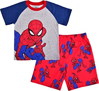 Marvel Boy's 2-Piece Spider-Man Raglan Shirt and Short Set