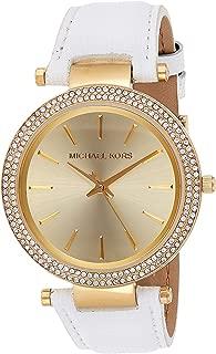 Michael Kors Womens Quartz Watch, Analog Display and Leather Strap MK2391