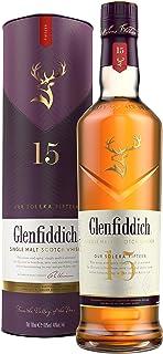 Glenfiddich Single Malt Scotch Whisky 15 Jahre Solera – der am häufigsten ausgezeichnete Single Malt Scotch Whisky der Welt, 1 x 0,7 l, 40% Vol.