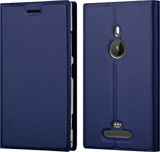 Cadorabo Book Case Works with Nokia Lumia 925 in Classy Dark Blue – with Magnetic Closure, Stand Function and Card Slot – Wallet Etui Cover Pouch PU Leather Flip