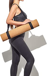 BASICALLY PERFECT Yoga Mat Sling,  Organic Cotton & Hemp,  Adjustable 2 in 1 Yoga Mat Carrier/Yoga Strap/Carrying Strap