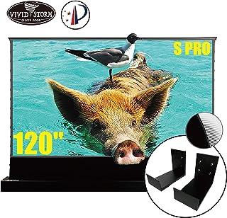 VIVIDSTORM S PRO Ultra Short Throw Laser Projector Screen,Black Housing Motorized Floor Rising Screen 120 inch Ambient Lig...