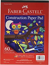 """Faber-Castell Construction Paper Pad - Multi-Colored Craft Paper (9"""" x 12""""), 60 Sheets"""