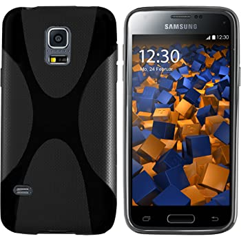 mumbi Hülle kompatibel mit Samsung Galaxy S5 mini Handy Case Handyhülle, schwarz