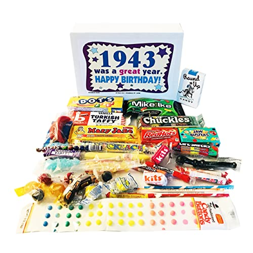 Woodstock Candy 1943 76th Birthday Gift Box Nostalgic Retro Mix From Childhood For 76