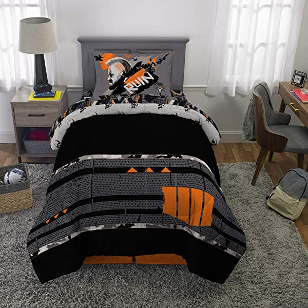 Franco Bedding Super Soft Comforter And Sheet Set 4 Piece Twin Size Call Of Duty Black Ops