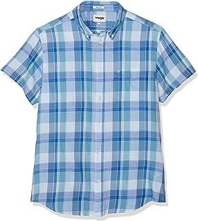 Wrangler Ss1pktShirt/_W5860LO35 Camicia Blu XXX-Large Uomo Navy O35