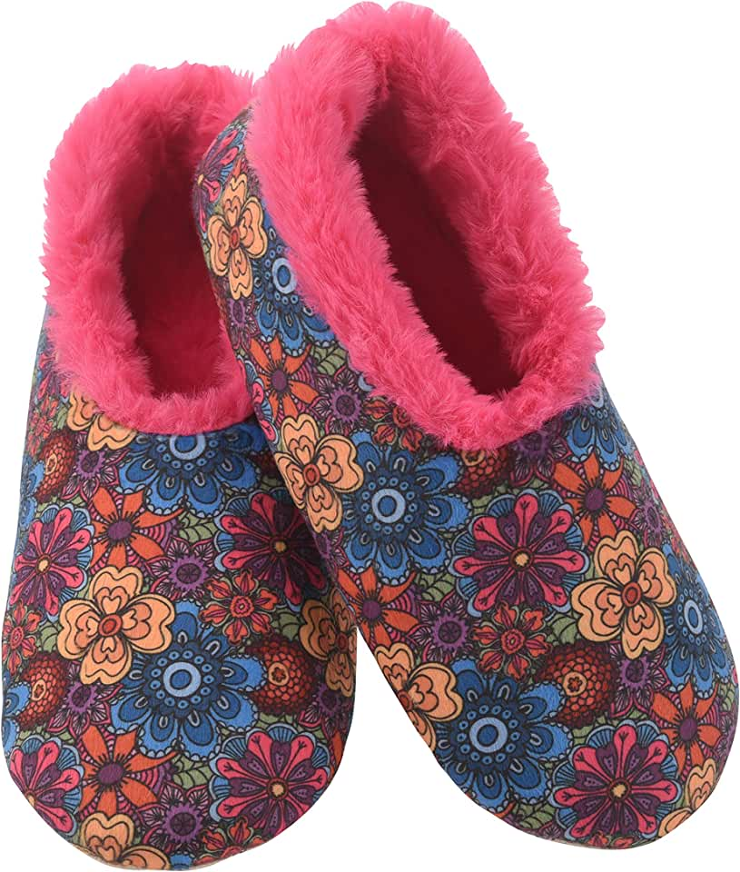 Snoozies Womens Furry Nice Slippers Slippers for Women | Womens House Slippers | Fuzzy Slippers with Soft Soles