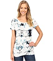 Calvin Klein Jeans - Printed Short Sleeve Mixed Media Slub Tee