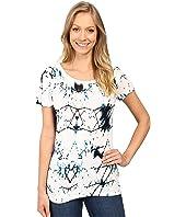 Calvin Klein Jeans - Printed Short Sleeve Mixed Media Slub Tee