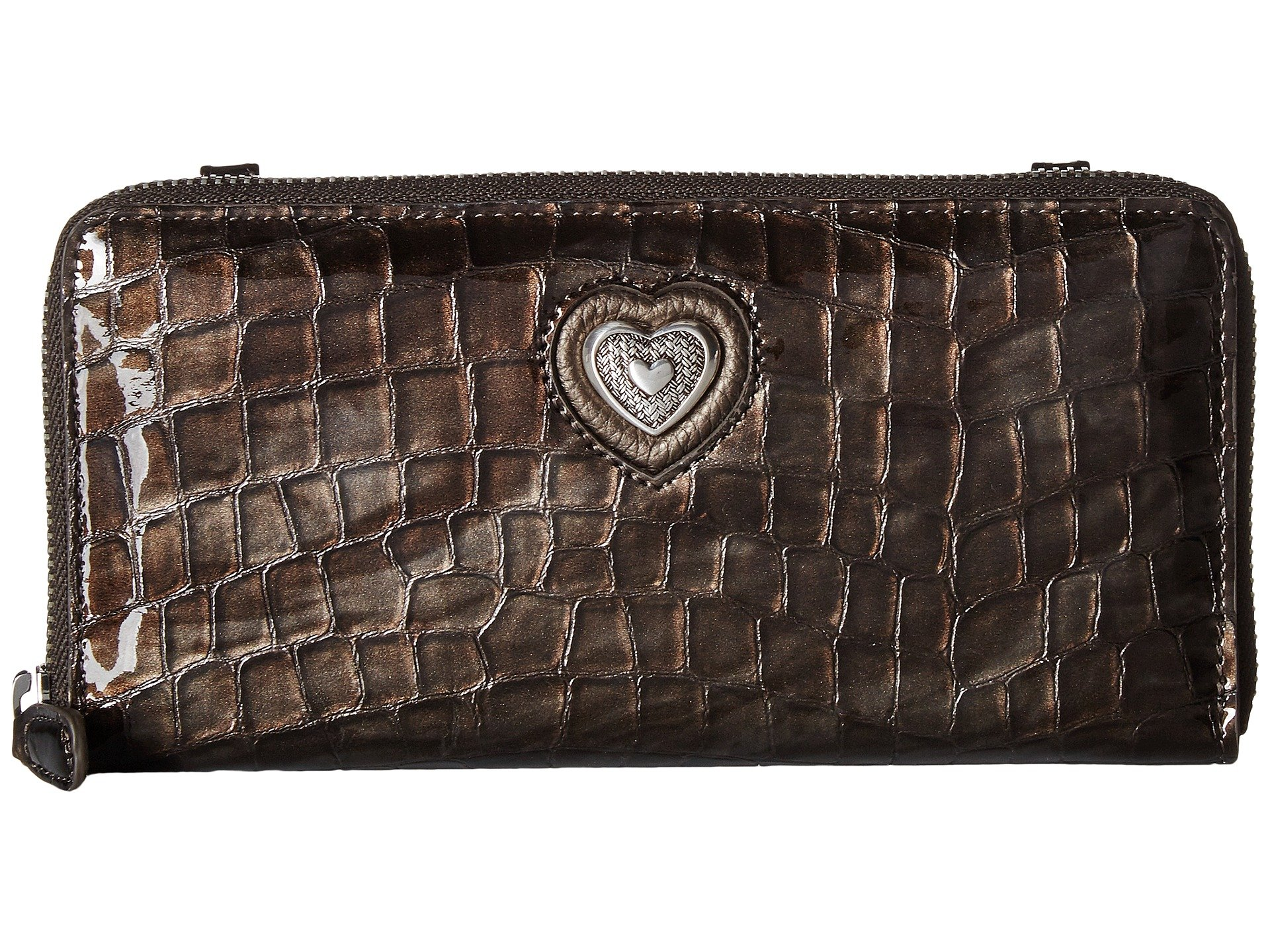 Pewter Bellissimo Heart Brighton Zip Wallet ICXpaawxq