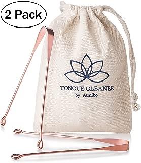 Atmiko Tongue Scraper, Ayurvedic Tongue Cleaner (Pack of 2)
