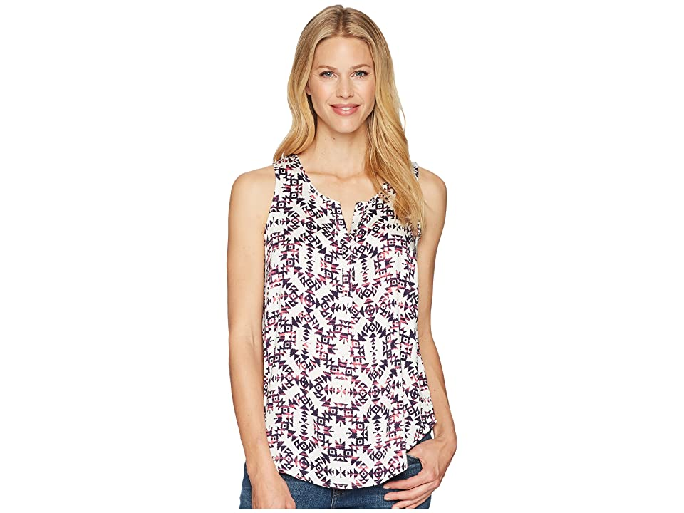 Tribal Sleeveless Henley Blouse (Rose Glow) Women