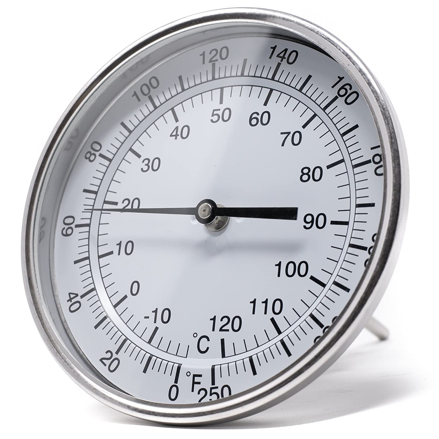 "Stainless Steel Case PIC Gauge B5A2-AA 5/"" Dial Size Adjustable Angle Connection 2 Stem Length 316 Stainless Steel Stem Bimetal Thermometer -40//120/°F and -40//50/°C"