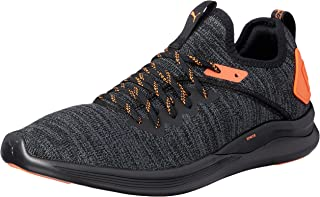 PUMA Men's Ignite Flash Evoknit Unrest Bl Shoes, Black-Shocking Orange