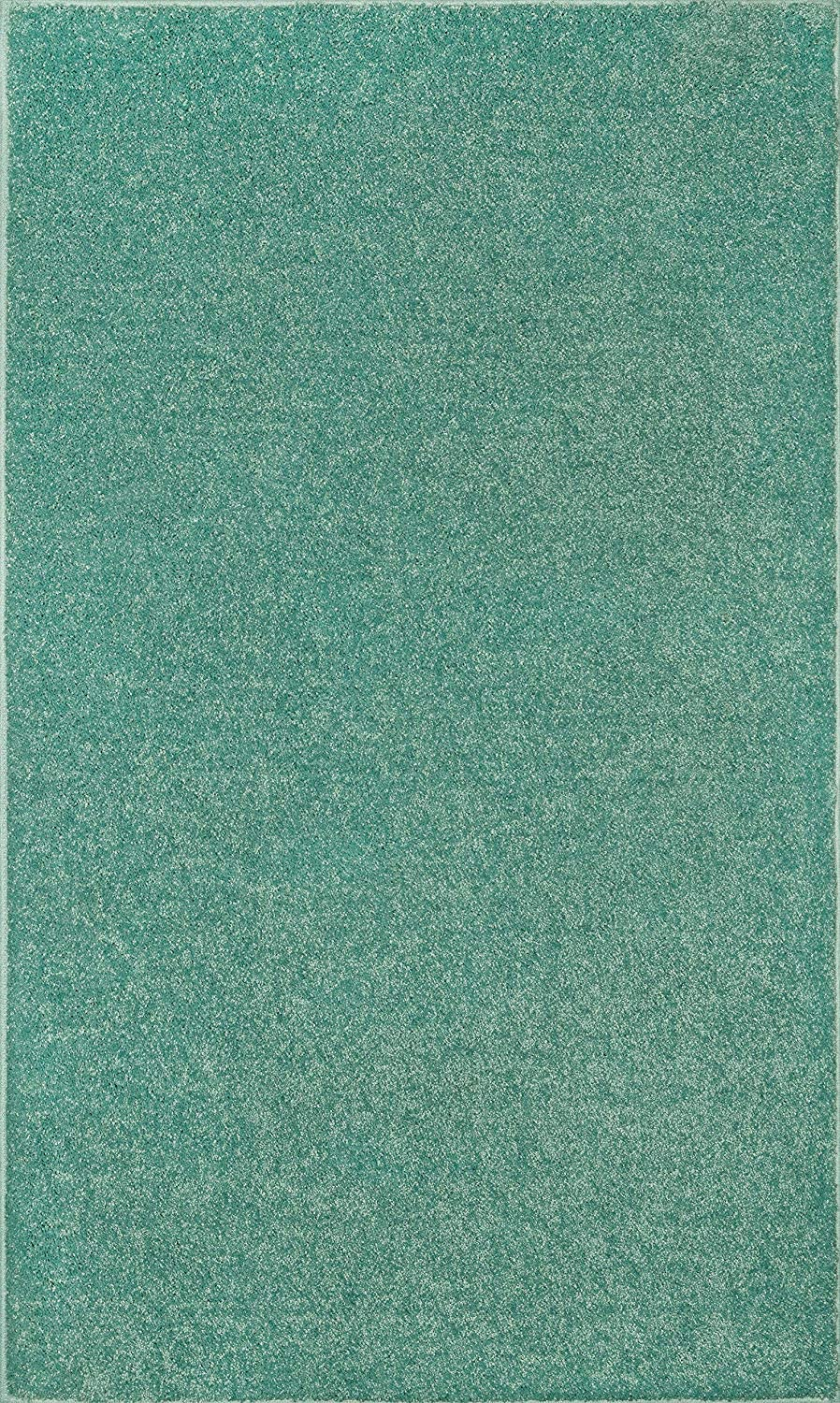 Solid Teal Complete Free Shipping Color Oversize Rug 7'x15' Area New popularity