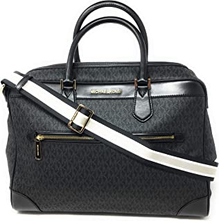 Michael Kors Signature Travel Weekender PVC Bag Black PVC