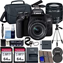 $599 » Canon EOS 800D DSLR Camera with 18-55mm is STM Lens with Preferred Accessory Bundle – Includes 2X 64GB SD Memory Cards + Canon Carrying Case + Tripod + Card Reader + More
