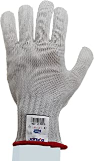 Showa Best 917C D/Flex HPPE Yarn Fiber Glove, Left Hand Dotted Palm Grip, 7 Gauge Seamless Knit, Cut Resistant, Small (Pac...