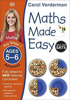Maths Made Easy: Advanced, Ages 5-6 (Key Stage 1): Supports the National Curriculum, Maths Exercise Book