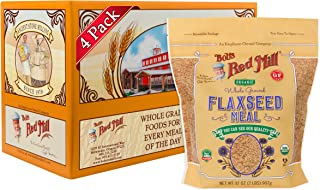 Bob's Red Mill Organic Brown Flaxseed Meal, 32-ounce (Pack of 4)