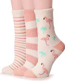 fuzzy flamingo socks