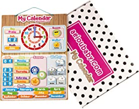 Kalendarz Zegar Magnetyczny Dziecięcy, Gra Edukacyjna Data Czas i Godzina na ścianę lub Lodówkę, 43x32cm. Pudełko Urodziny...