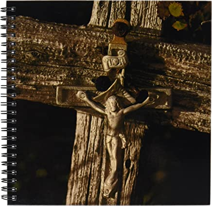 3dRose db_11344_1 Wooden Cross at Old Arctic Grave Site Drawing Book, 8 by 8""