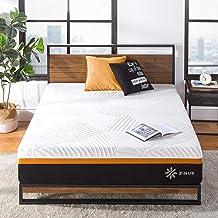 Zinus Queen Mattress 3 Zone Hybrid 30cm Cool Adaptive Fabric Copper Memory Foam Pocket Spring - Medium Feel