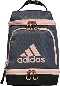 adidas Excel Insulated Lunch Bag, Onix/BK/Rose Gold/Coral, OSFA