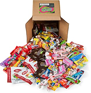 Your Favorite Mix of Premium Candy! 3 Pounds of Gummi Bears, Skittles, M&M's, Blow Pop's, Tootsie Rolls, Mike & Ike's, & More.(Packed in a Small 6 inch cube box)