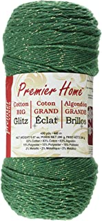 Premier Yarns Home Cotton Glitz Yarn, Green Gold