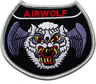 AIRWOLF helicopter 1980s TV Bell 222 3 1/2 inch Embroidered Patch D4