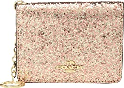 Glitter Key Ring Card Case