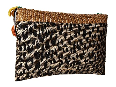 Leopard Straw Johnson Clutch Betsey Fruit qH1xwn8