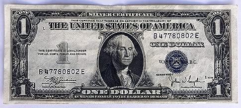 one dollar bill silver certificate 1935