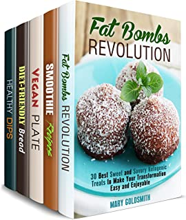 Diet-Friendly Lunch Box Set (5 in 1): Healthy Weight Loss Fat Bombs, Smoothies, Vegan Dips and Dipper Plus Everyday Low Carb Breads (Weight Loss Cooking Book 2)