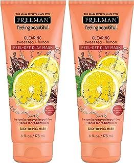 Freeman Facial Sweet Tea & Lemon Peel Away Clay Mask 6 Ounce (177ml) (2 Pack)