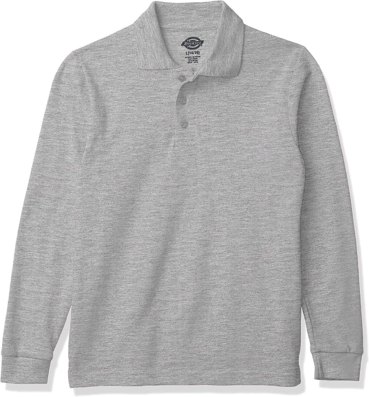 Dickies Boys' Long Sleeve Pique Polo