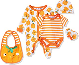 Lilly and Jack Unisex Baby 5 Pieces Multipack Halloween Baby Clothes, Orange, Newborn