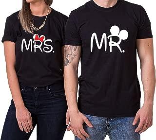 Mister Misses Partnerlook Camiseta de los Pares Dulce para Parejas como Regalos