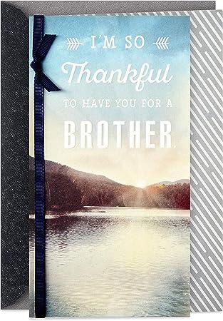 Hallmark Birthday Card for Brother (So Thankful)