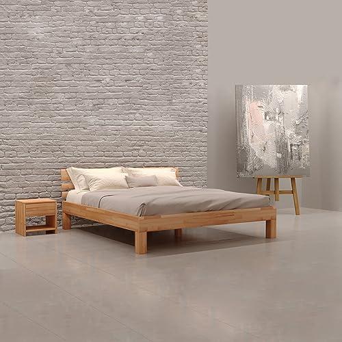 Massivholz Bett Amazon De