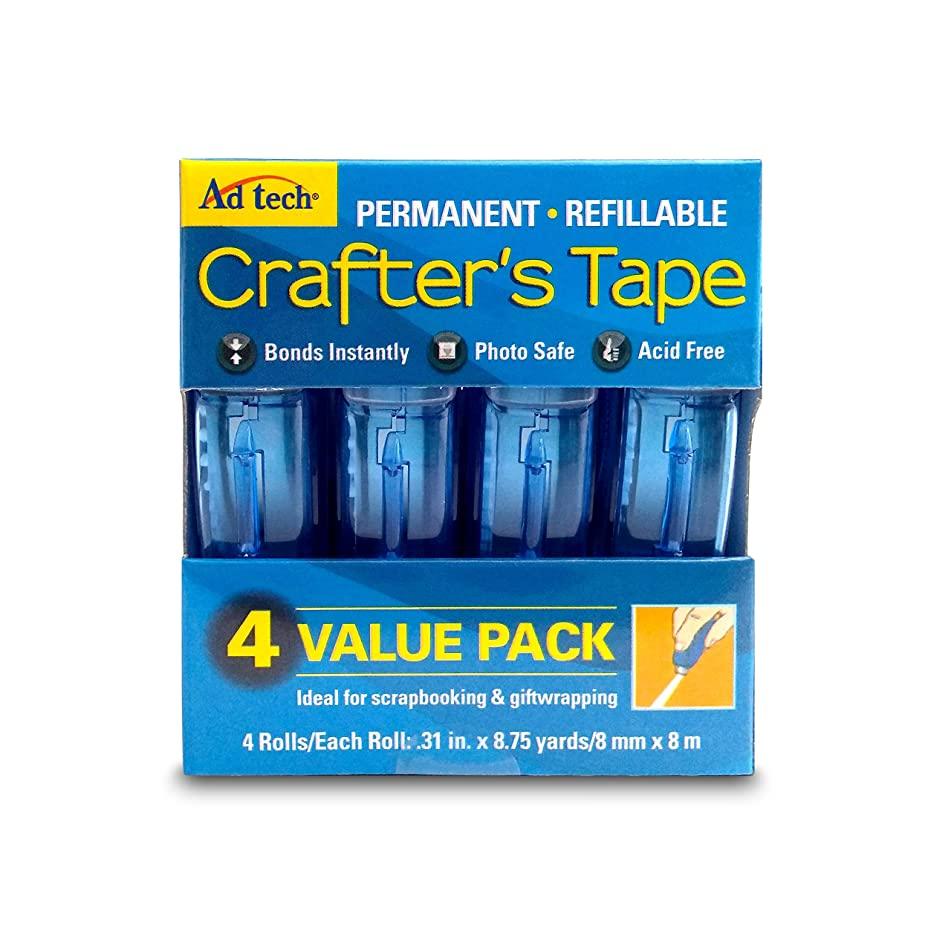 Ad-Tech Permanent Crafter's Tape, 0.31 by 315-Inch, 4 Per Package