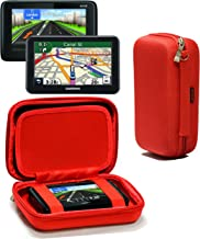 Navitech Red Hard Eva Nylon Protective Tough Carry Case Compatible with The Tomtom GO Live Camper Caravan & 512595LMT Truck